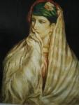 D'après J.F. Portaels «Portrait d'une jeune Nord-Africaine»
